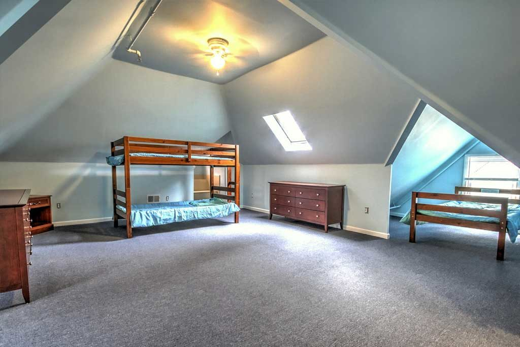 sober home loft bedroom
