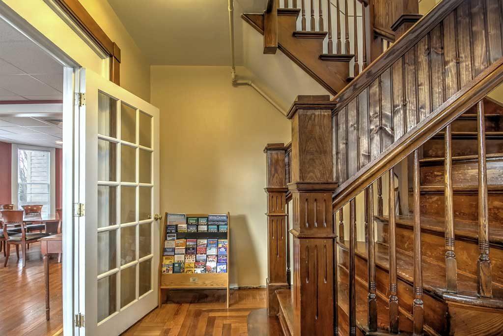 Sober house staircase
