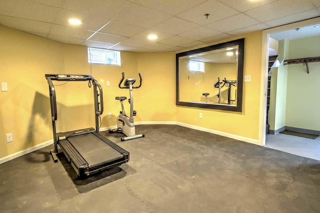 Sober house gym area